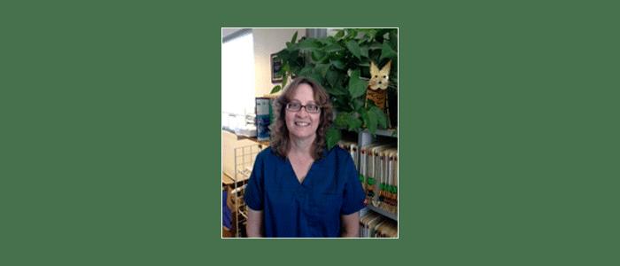 Carole Flood at Albuquerque animal hospital