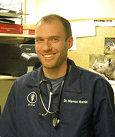 Veterinarian Marcus Martin at Cedarwood Veterinary Clinic