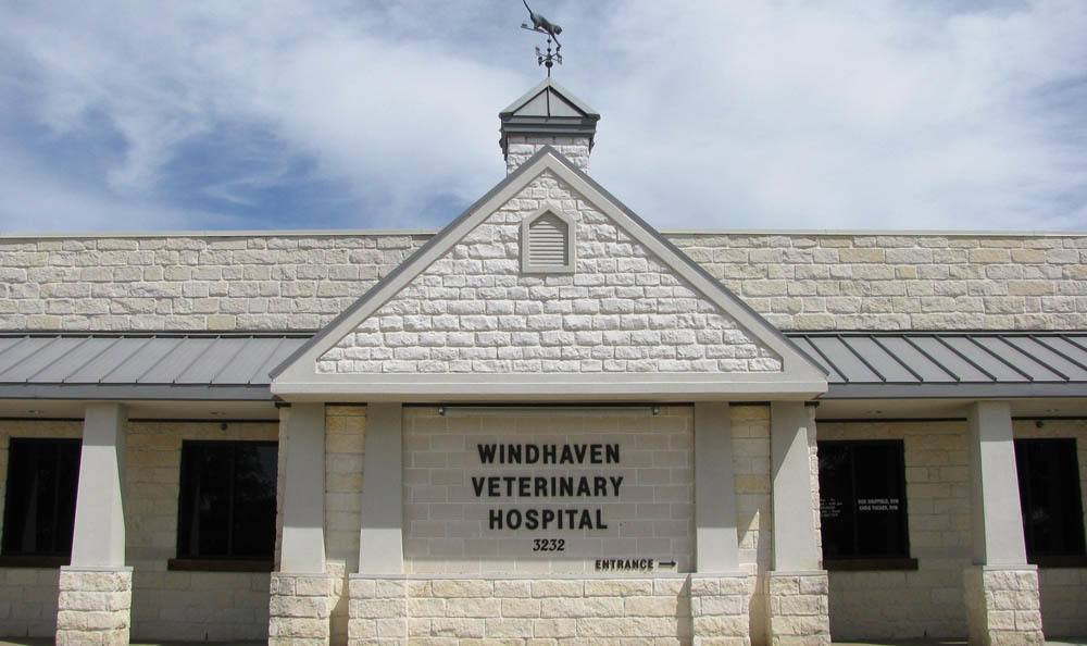 Straight On Exterior Shot Of Windhaven Veterinary Hospital