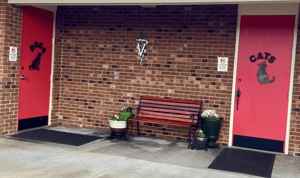 Entrance to Quail Corners Animal Hospital