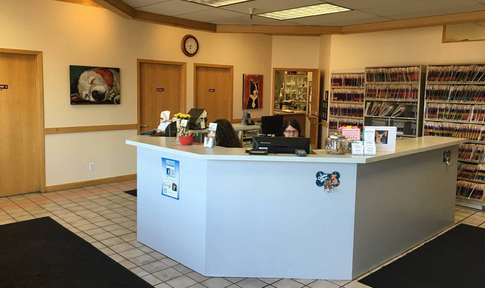 Receptionists Desk At Holladay Veterinary Hospital In Salt Lake City
