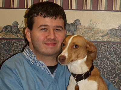 Jason Chapel, kennel assistant at Kokomo Animal Hospital