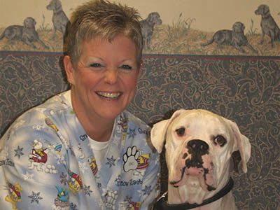 Staci Tinsley, veterinary assistant at Kokomo Animal Hospital