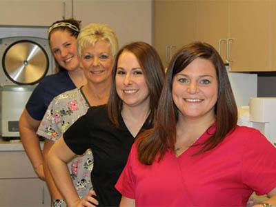 Vet techs at Kokomo Animal Hospital