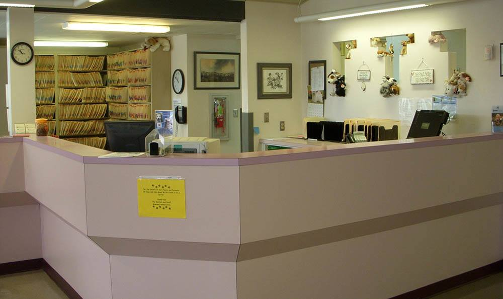 Main office at Albuquerque animal hospital