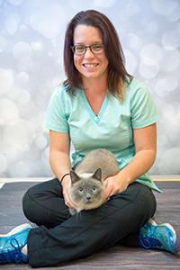 Team member Jess at Okanagan Veterinary Hospital