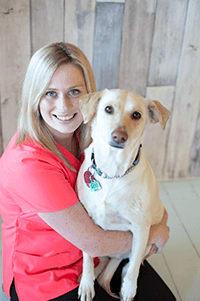 Team member Katie at Okanagan Veterinary Hospital