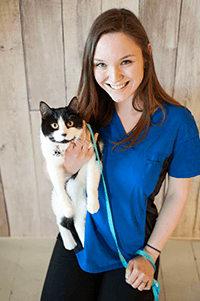 Team member Rebecca at Okanagan Veterinary Hospital