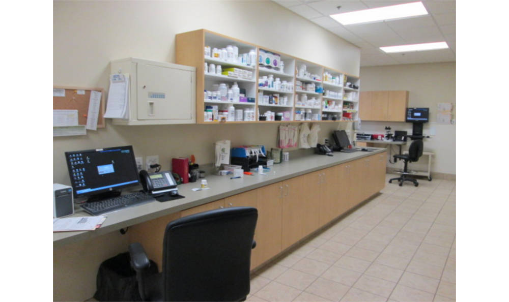 In-house pharmacy at Eagle Animal Hospital