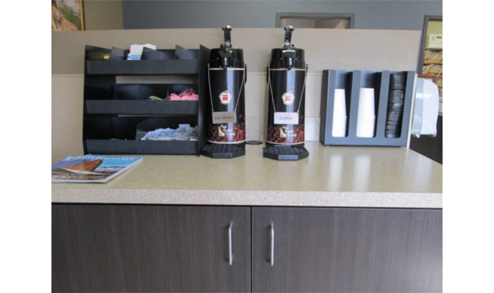 Enjoy some coffee at Eagle Animal Hospital