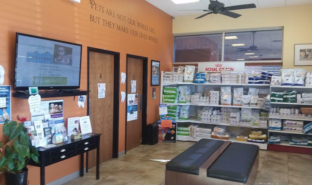 Lobby of Animal Hospital in Roselle