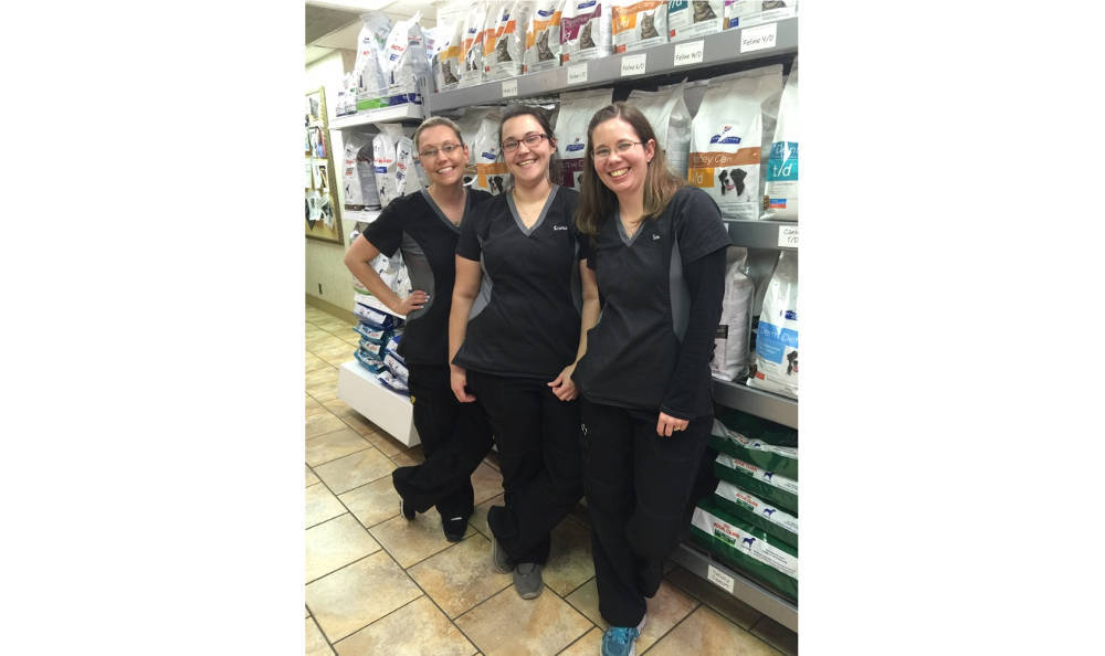 Some of our staff at Tulsa Animal Hospital