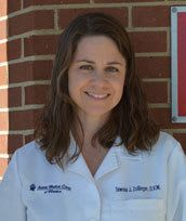 Dr. Tawnia Zollinger at animal hospital in Wheaton