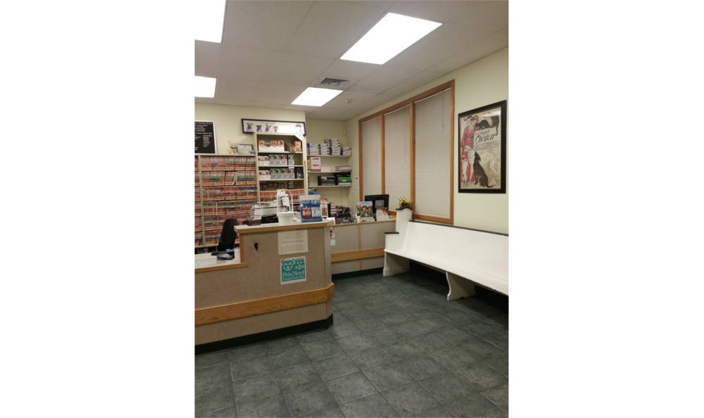 Reception area at Westover Animal Clinic