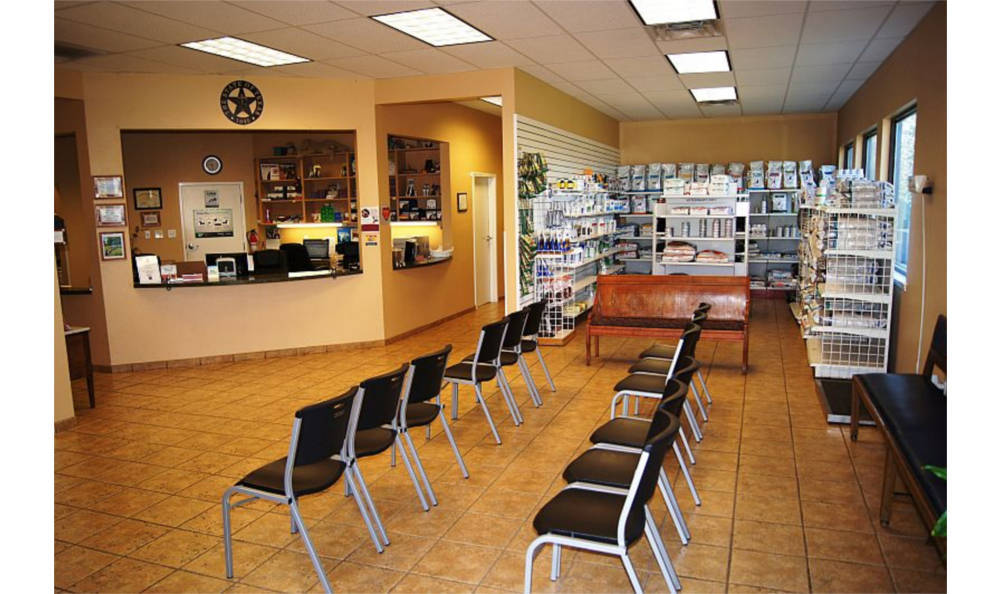 Lobby at O'Connor Road Animal Hospital