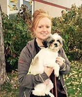 Team member Kayla Runge at All City Pet Care Veterinary Emergency Hospital