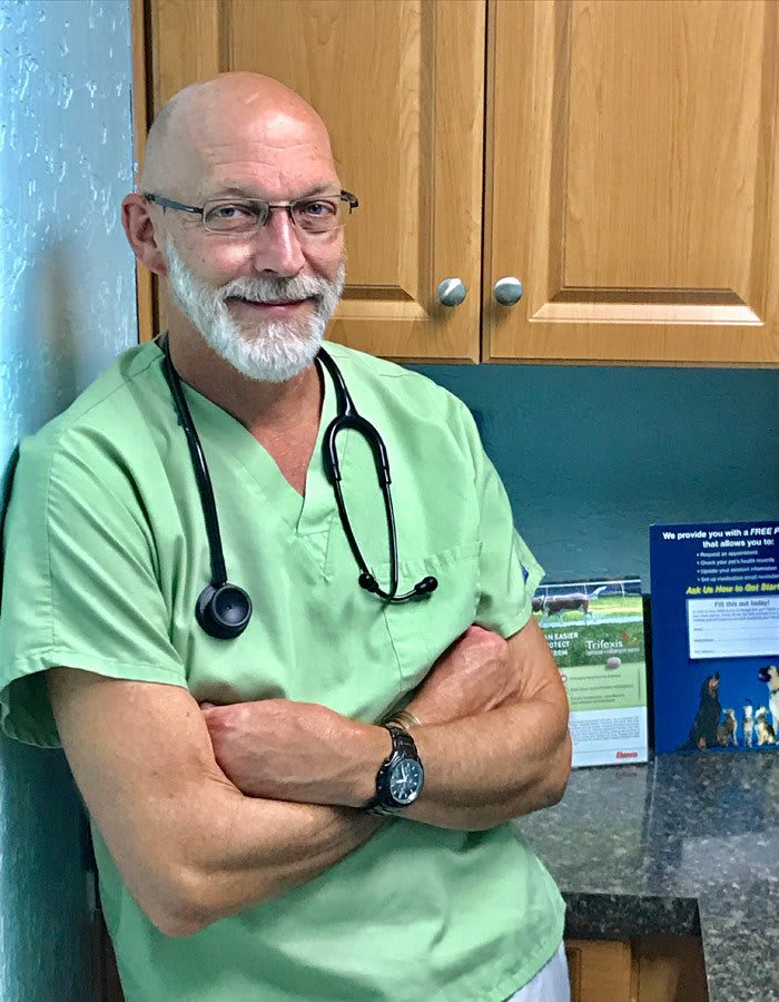 Dr. Crit J Holland at animal hospital in Cortez