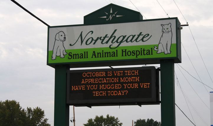 sign at  Northgate Small Animal Hospital