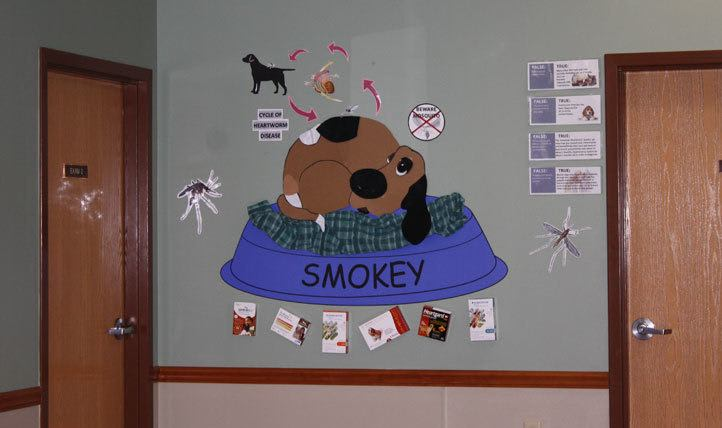 Wall graphic at Northgate Small Animal Hospital in Collinsville