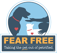 Fear Free logo for Larkin Veterinary Center