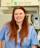 Stephanie at Kitsap Veterinary Hospital.