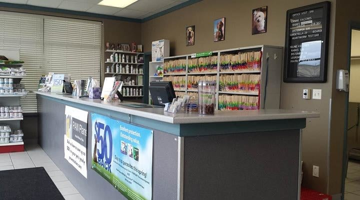 Caton Crossing Animal Hospital front desk 2