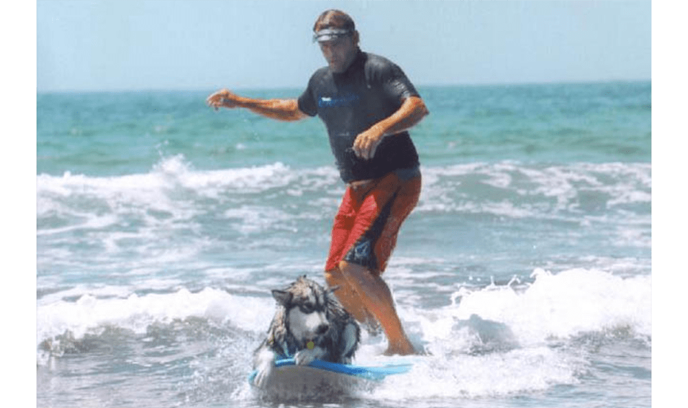 Sussie Surfing With Dad
