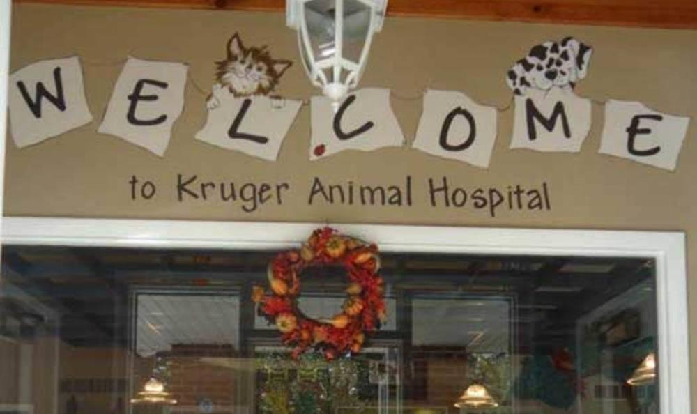 Kruger Animal Hospital Welcome Sign