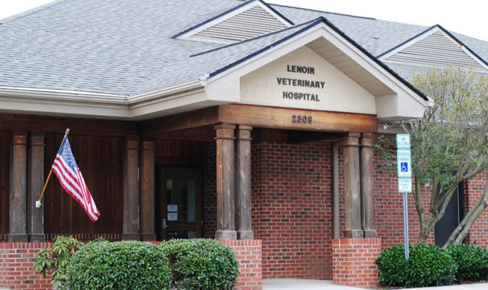 Entrance Of Lenoir Veterinary Hospital In Lenoir