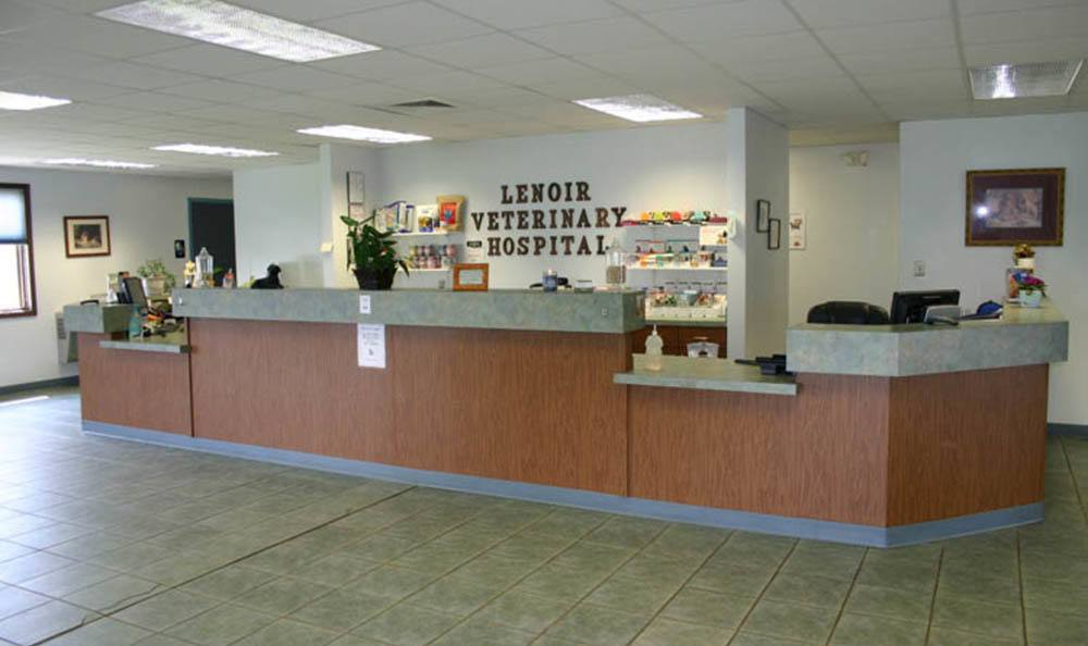Front Counter At Lenoir Veterinary Hospital