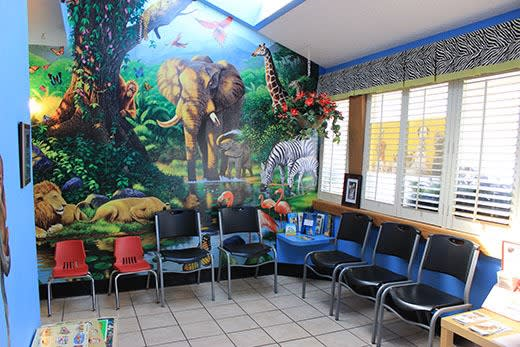 Waiting room at City Creatures Animal Hospital