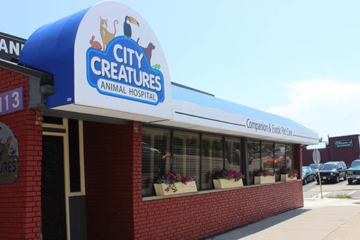 Exterior of City Creatures Animal Hospital
