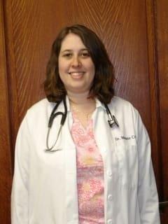 Dr. Melanie Cross at animal hospital in St. Charles