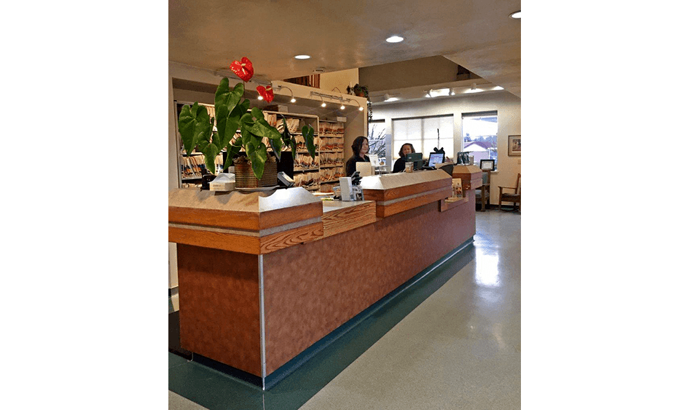 Front office at Bush Animal Hospital