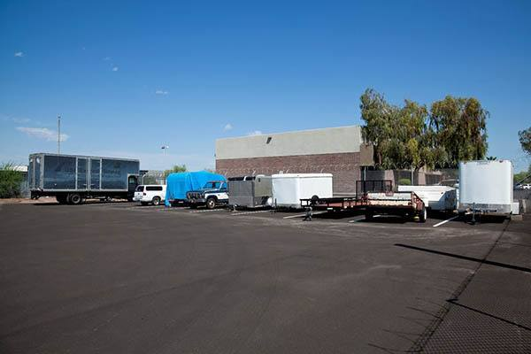 Trailer Parking at Tempe Choice Self Storage in Tempe