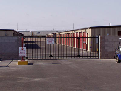 Gila Ridge Storage has gates for security.