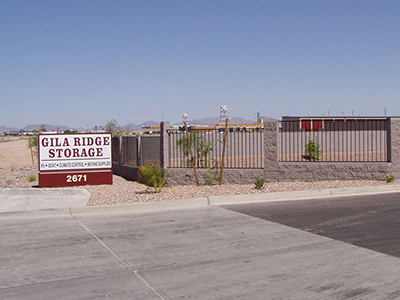 Welcome to Gila Ridge Storage, in Yuma, AZ.