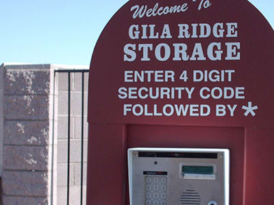 Keypad access is only one feature that Gila Ridge Storage offers.