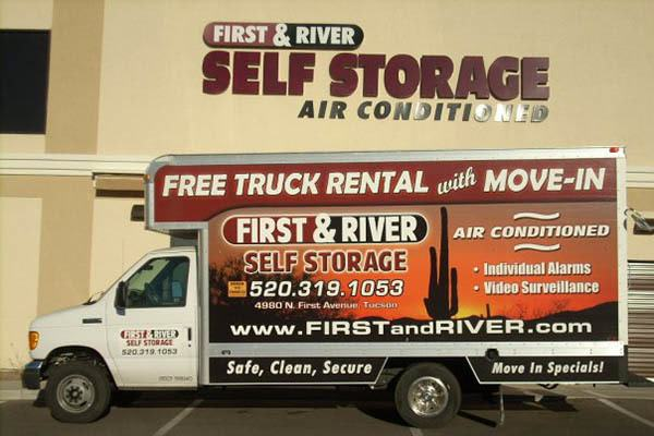 Moving Truck at First & River Self Storage in Tucson, AZ