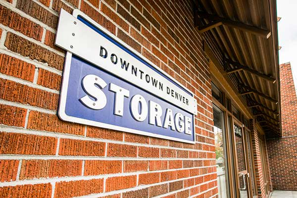 Sign at Downtown Denver Storage