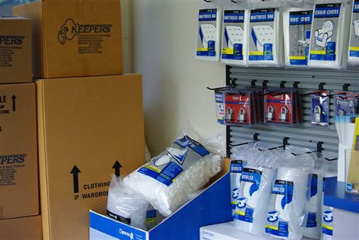 Keepers Self Storage sells packing and moving supplies