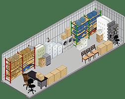 10x20 ft storage unit