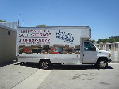 Moving Truck At Storage Units In Mission Hills
