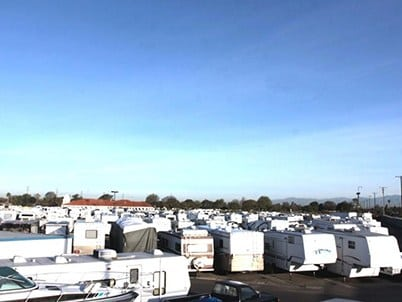Overhead View Of Storage In Long Beach California