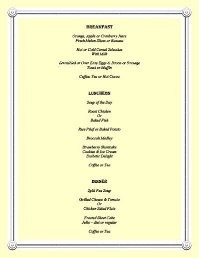 View or print our delicious sample menu at Savannah Court of Lake Oconee