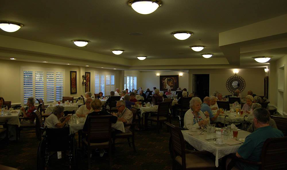 Dining room at senior living in Melbourne
