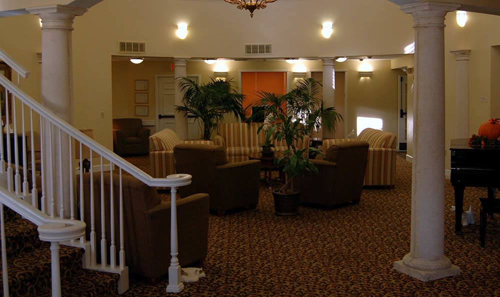 Lobby at senior living in FL