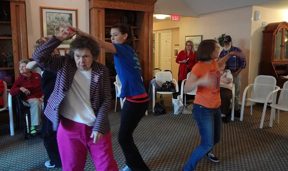 Dancing party at senior living in Lakeland