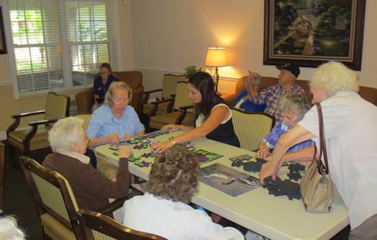 Memory care at senior living in Oviedo