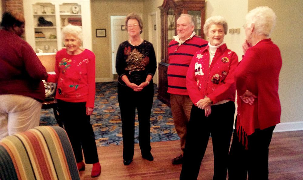 Bartow residents in their christmas sweaters